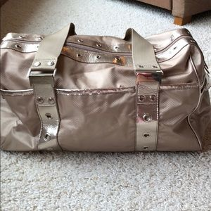 Bebe Sport gold travel bag